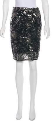 Loro Piana Knee-Length Leather Skirt