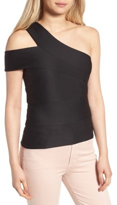 Women's Trouve Asymmetrical Bandage Top $59 thestylecure.com