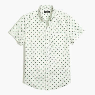 J.Crew Slim-fit short-sleeve printed shirt