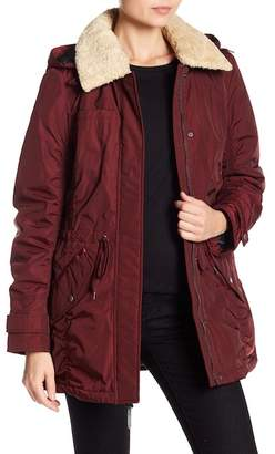 Andrew Marc Nandie Faux Shearling Hooded Jacket
