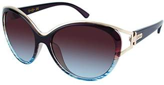 Jessica Simpson Women's J5384 BRN Non-Polarized Iridium Oval Sunglasses