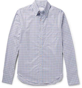 Prada Button-Down Collar Checked Cotton-Twill Shirt