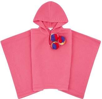 Il Gufo Knitted Pom Pom Poncho