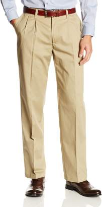 Lee Men's Comfort Waist Custom Relaxed Fit Pleated Pant