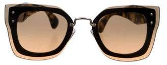 Miu Miu Butterfly Tinted Sunglasses