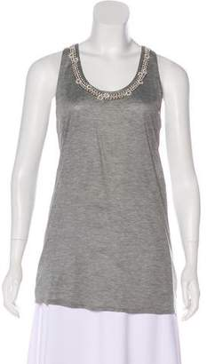 Christian Dior Embellished Sleeveless Top