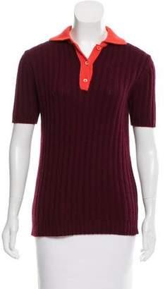 Prada Collared Cashmere Sweater