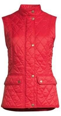 Barbour Women's Core Essentials Otterburn Quilted Vest - Pomegranate - Size 6