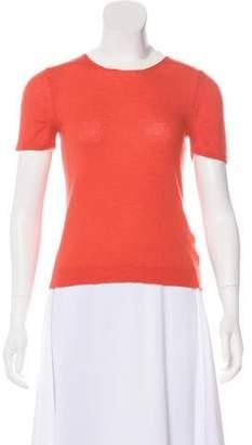 Moncler Virgin Wool Short Sleeve Top