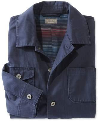 L.L. Bean L.L.Bean Signature Flannel-Lined Chore Jacket, Herringbone