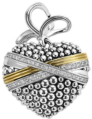 Women's Lagos 'Diamond Caviar' Diamond Heart Pendant $995 thestylecure.com