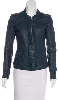 G Star Leather Moto Jacket