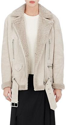 Acne Studios Women's More Shearling Moto Jacket $2,700 thestylecure.com