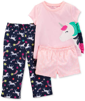 Carter's Carter Toddler Girls 3-Pc. Unicorn Pajamas Set