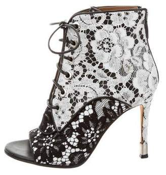 Givenchy Lace Peep-Toe Booties