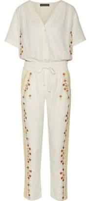 Antik Batik Sharlen Sequin-Embellished Embroidered Cotton-Gauze Jumpsuit