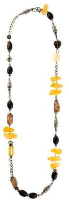 Dolce & Gabbana Faux Stone & Bead Necklace