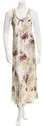 Oscar de la Renta Floral Sleeveless Dress