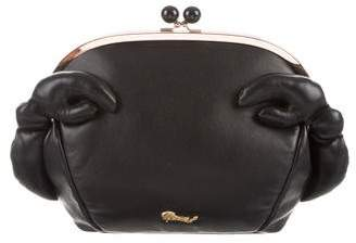 Muveil Leather Crab Clutch