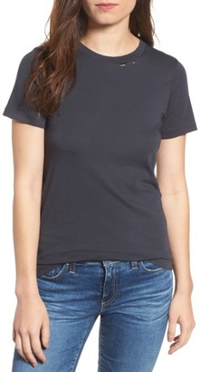 Women's Ag Destroyed Crewneck Tee $98 thestylecure.com