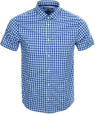 Tommy Hilfiger Gingham Stretch Shirt Blue