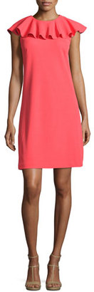 Ted Baker London Sontie Frill-Collar Shift Dress, Coral $279 thestylecure.com