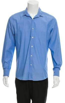 Theory Spread Collar Button-Up Shirt