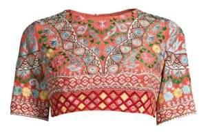 Saloni Celia Floral Silk Choli