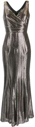 Lauren Ralph Lauren metallic evening gown