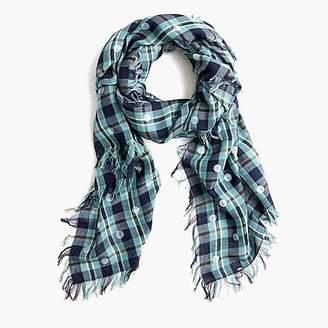 J.Crew Midseason scarf polka-dot plaid