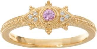 Judith Ripka 14K Gold Sapphire & Diamond Evil Eye Ring