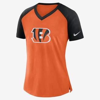 Nike V-Neck (NFL Bengals) Women's Short Sleeve Top