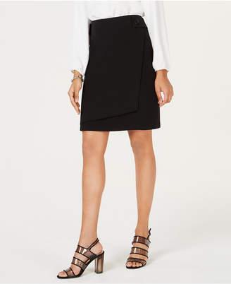 Bar III Faux-Wrap Skirt