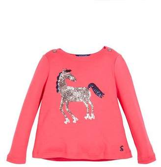 Joules Esme Sequin Roller Skating Horse Tee, Size 2-6