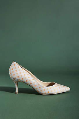 Charles David Addie Polka-Dotted Heels