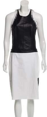 Helmut Lang Cut-Out Midi Dress