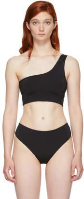Myraswim Black Ford Single-Shoulder Bikini Top