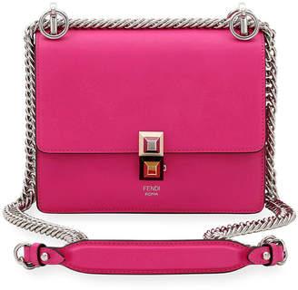 Fendi Kan I Mini Scallop Studded Shoulder Bag