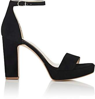 FiveSeventyFive Women's Suede Ankle-Strap Platform Sandals - Black