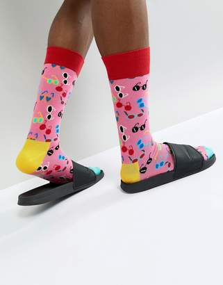 Happy Socks Shades Print Socks In Pink