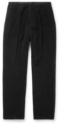 Our Legacy Black Borrowed Wide-Leg Wool-Blend Trousers