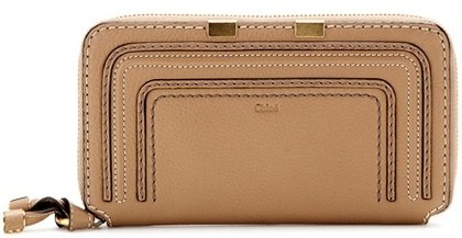 Chloé Chloé Marcie Zip-around Leather Wallet