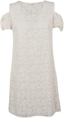 Blugirl Perforated Off-shoulder Dress