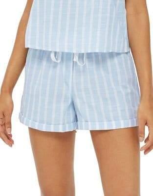 Topshop Textured Stripe Shorts