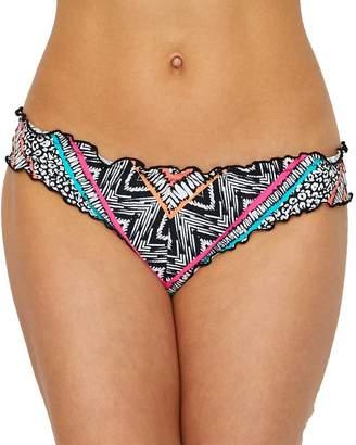 Coco Rave Into The Jungle Ruffle Bikini Bottom, S