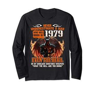 Birthday Man Born In 1979 Devil Long Sleeve shirt 40th Yea