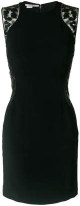 Stella McCartney sheer contrast fitted dress