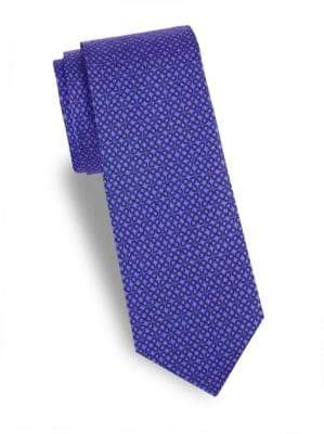 Saks Fifth Avenue Flower Silk Tie