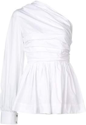 Jourden one-shoulder ruffle blouse