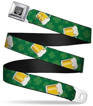 Buckle-Down Unisex-Adults Seatbelt Belt St. Pats Regular